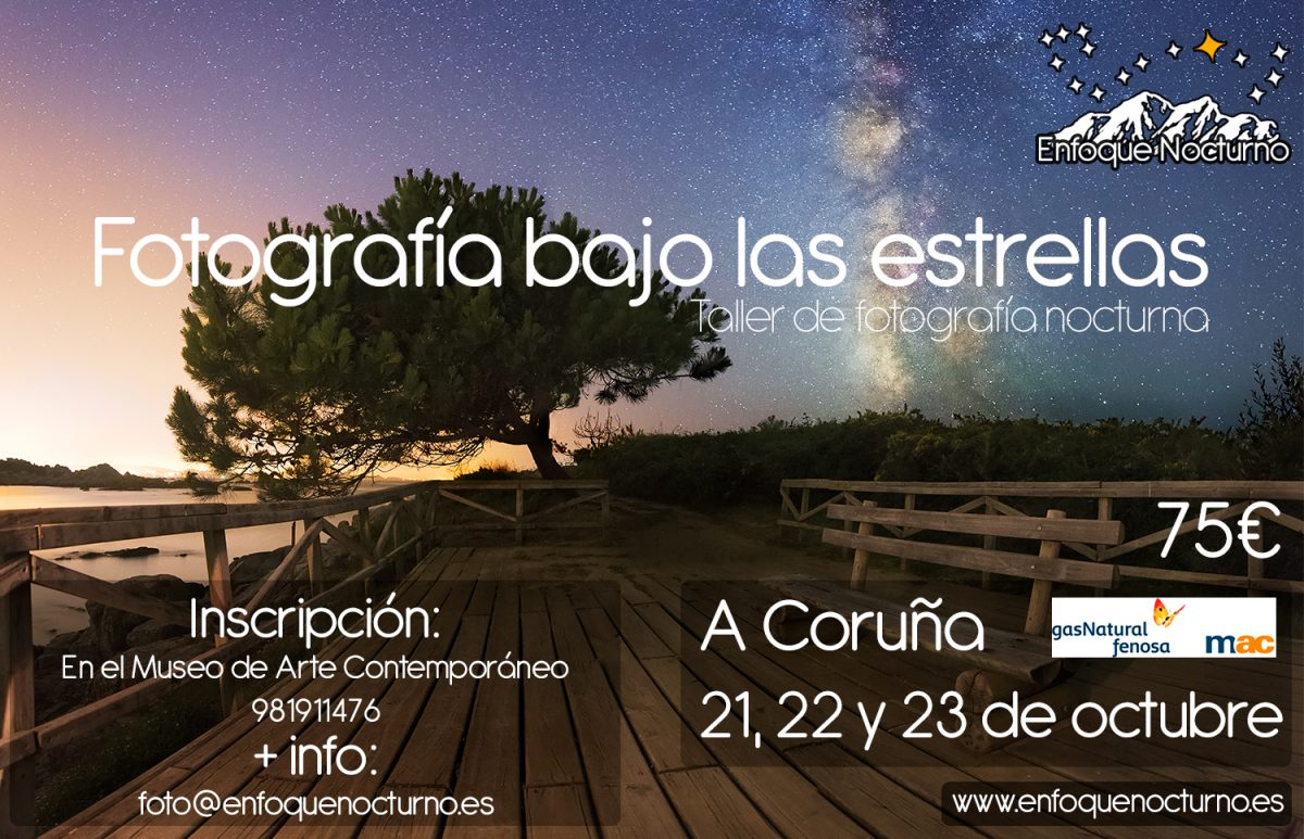 Workshop: Photography under stars - MAC A Coruña 10/2016